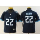 Youth Tennessee Titans #22 Derrick Henry Limited Navy Vapor Untouchable Jersey