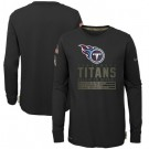 Youth Tennessee Titans Black 2020 Salute To Service Long Sleeves T Shirt
