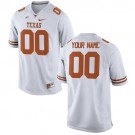 Youth Texas Longhorns Customized White College Football Jersey