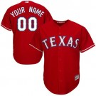 Youth Texas Rangers Customized Red Cool Base Jersey