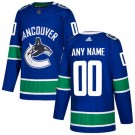 Youth Vancouver Canucks Customized Blue Authentic Jersey