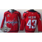 Youth Washington Capitals #43 Tom Wilson Red 2018 Champions Jersey