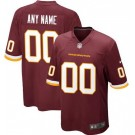 Youth Washington Football Team Customized Game Red Jersey