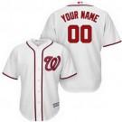 Youth Washington Nationals Customized White Cool Base Jersey
