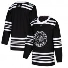 Men's Chicago Blackhawks Customized Black 2019 Winter Classic Authentic Jersey