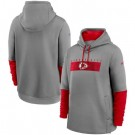 Men's Kansas City Chiefs Gray Playbook Performance Pullover Hoodie