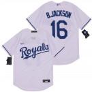 Men's Kansas City Royals #16 Bo Jackson White 2020 Cool Base Jersey