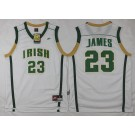 Men's Norte Dame Fighting Irish #23 Lebron James White Swingman College Basketball Jersey