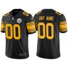 Men's Pittsburgh Steelers Customized Limited Black Rush Jersey