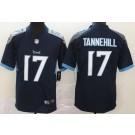 Men's Tennessee Titans #17 Ryan Tannehill Limited Navy Vapor Untouchable Jersey