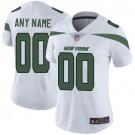 Women's New York Jets Customized Limited White Vapor Untouchable Jersey