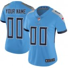 Women's Tennessee Titans Customized Limited Light Blue Vapor Untouchable Jersey