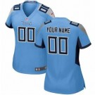 Women's Tennessee Titans Customized Game Light Blue Jersey
