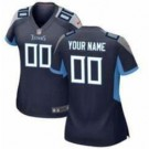 Women's Tennessee Titans Customized Game Navy Jersey