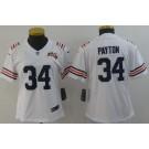 Women's Chicago Bears #34 Walter Payton Limited White Alternate 100th Season Vapor Untouchable Jersey