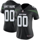 Women's New York Jets Customized Limited Black Vapor Untouchable Jersey