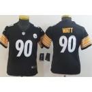 Youth Pittsburgh Steelers #90 TJ Watt Limited Black Vapor Untouchable Jersey