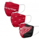 Detroit Red Wings FOCO Cloth Face Covering Civil Masks 3 Pics