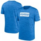 Los Angeles Chargers Marled Stadium Heathered Printed T Shirt 200813