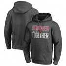 Men's Arizona Cardinals Heather Charcoal Stronger Together Printed Pullover Hoodie 0817
