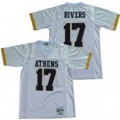 Men's Athens High School Golden Eagles #17 Philip Rivers White Football Jersey