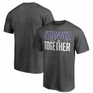 Men's Baltimore Ravens Heather Charcoal Stronger Together Printed T-Shirt 0927