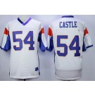 Men's Blue Mountain State #54 Kevin Thad Castle White Football Jersey