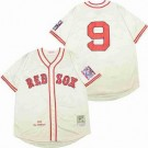 Men's Boston Red Sox #9 Ted Williams Cream 1939 Throwback Jersey