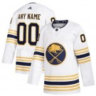 Men's Buffalo Sabres Customized White 2021 Alternate Authentic Jersey