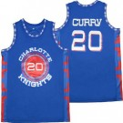 Men's Charlotte Christian Knights #20 Stephen Curry White Basketball Jersey