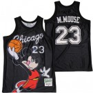 Men's Chicago #23 Mickey Mouse Black Basketball Jersey