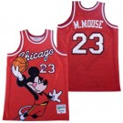 Men's Chicago #23 Mickey Mouse Red Basketball Jersey