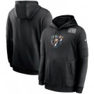 Men's Chicago Bears Black Crucial Catch Sideline Performance Pullover Hoodie