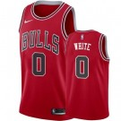 Men's Chicago Bulls #0 Coby White Red Icon Hot Press Jersey