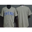 Men's Chicago Cubs Blank Gray Cool Base Jersey