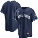 Men's Chicago Cubs Blank Navy 2021 City Cool Base Jersey