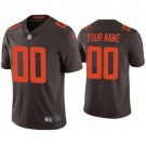 Men's Cleveland Browns Customized Limited Brown Alternate 2020 Vapor Untouchable Jersey