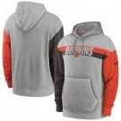 Men's Cleveland Browns Gray Heathered Heritage Tri Blend Pullover Hoodie