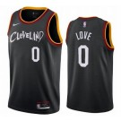 Men's Cleveland Cavaliers #0 Kevin Love Black 2021 City Icon Hot Press Jersey