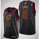 Men's Cleveland Cavaliers #0 Kevin Love Black Icon Hot Press Jersey