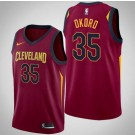 Men's Cleveland Cavaliers #35 Isaac Okoro Red Icon Hot Press Jersey