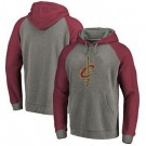 Men's Cleveland Cavaliers Gray Red Printed Pullover Hoodie