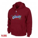 Men's Cleveland Cavaliers Red Printed Pullover Hoodie