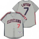Men's Cleveland Indians #7 Kenny Lofton Gray 1993 Turn Back The Clock Jersey