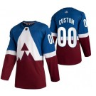 Men's Colorado Avalanche Customized Blue Red 2020 Stadium Series Authentic Jersey
