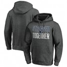 Men's Dallas Cowboys Heather Charcoal Stronger Together Printed Pullover Hoodie 0825