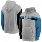 Men's Detroit Lions Gray Heathered Heritage Tri Blend Pullover Hoodie