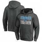 Men's Detroit Lions Heather Charcoal Stronger Together Printed Pullover Hoodie 0791