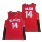 Men's East High School Wildcats #14 Troy Bolton Red Basketball Jersey