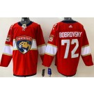 Men's Florida Panthers #72 Sergei Bobrovsky Red Authentic Jersey